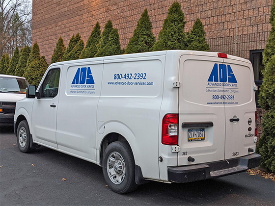 Advanced Door Service - Office and vehicle