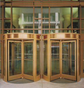 Double Revolving Door Ottawa, Burlington, London - Double 4 Wing Revolving Door ontario