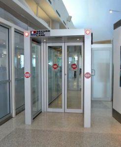 Advanced Door Services secure exit lane