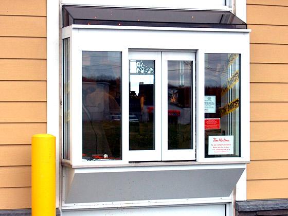 Drive thru window example from Advanced Door Service