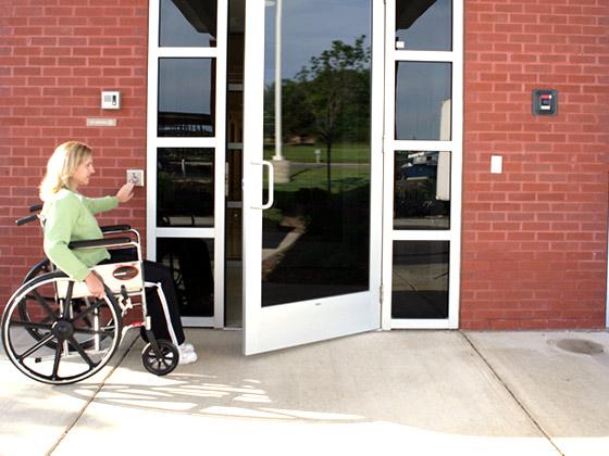 Handicap door opener from Advanced Door Service