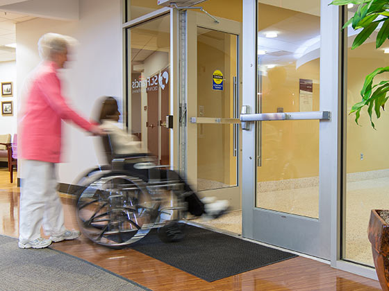Hands-free door opener in action from Advanced Door Service