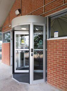 Revolving Door in front area Burlington, London, Ottawa - Security Revolving Door Systems Ontario